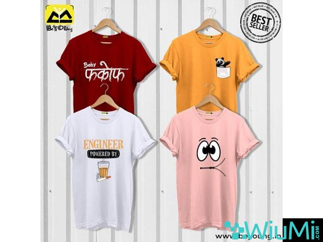 Online Shopping For T-shirts and Mobile Covers-Beyoung - 1/5