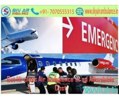 Pick Air Ambulance with Medical Setup in Delhi