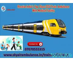 Avail Sky Train Ambulance Service in Silchar with Advanced Medical Support