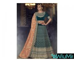 Mirraw Offering Designer Velvet Lehenga Cholis At Best Prices