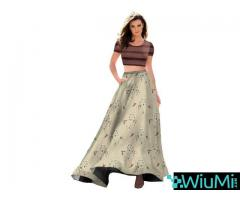 Get Online Crop Top Lehenga Choli From Mirraw