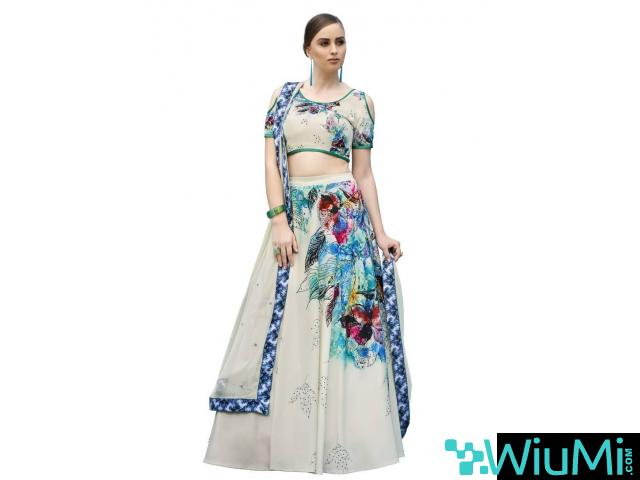 Mirraw Offers Stylish Floral Lehengas At Best Prices - 1/1