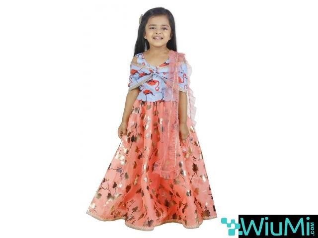 Best Offers On Girls Lehenga Choli Available At Mirraw - 1/3