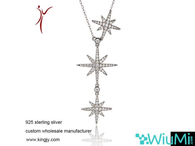 Custom wholesale necklaces 925 sterling silver jewelry - 1/3