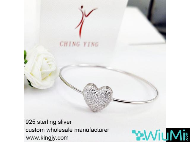Custom wholesale 925 sterling silver bracelets for chain shop - 2/3