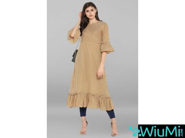 Designer Collections of Long Kurtis Online At Mirraw - 1/4