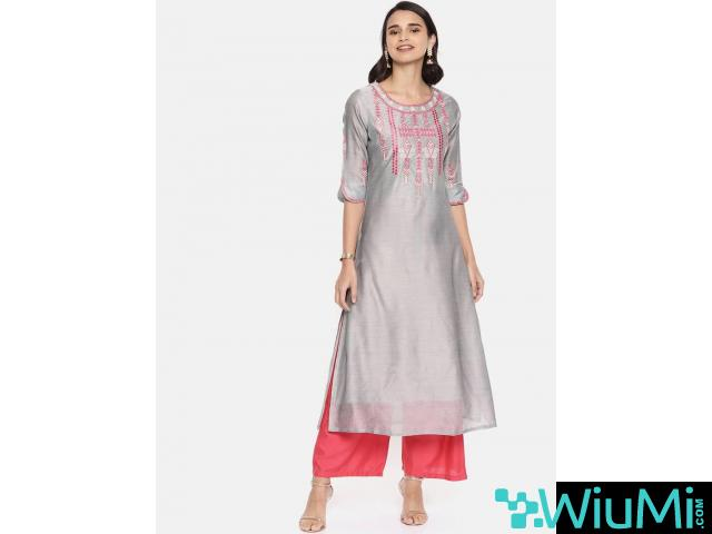 Designer Collections of Long Kurtis Online At Mirraw - 3/4