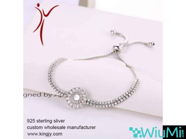 wholesale bracelets necklace earrings jewelry, custom sterling silver logo tags - 3/3