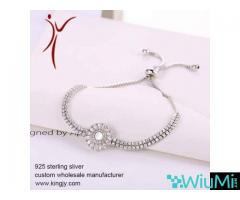 wholesale bracelets necklace earrings jewelry, custom sterling silver logo tags - Image 3/3
