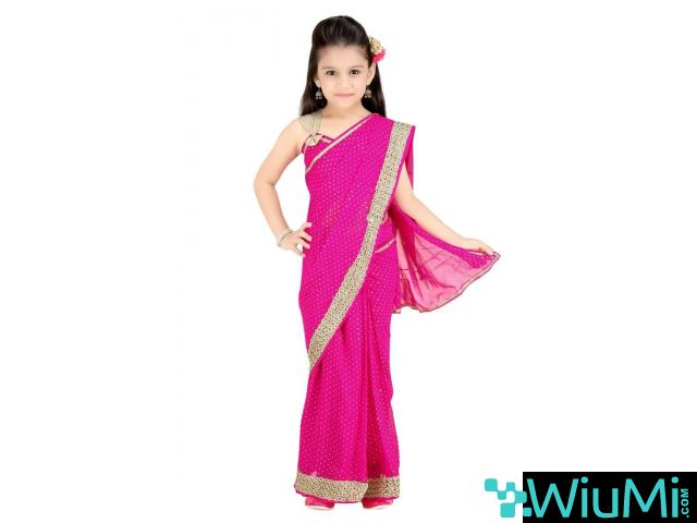 Get Online Kids Saree In Least Cost From Mirraw - 1/3