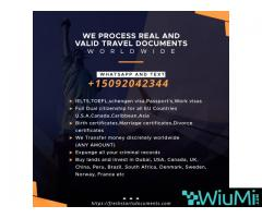 Solicite documentos de viaje WhatsApp y Text + 15092042344