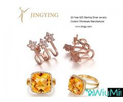 Sterling silver gold plated ring necklaces bracelets earrings jewelry custom - Image 1/2