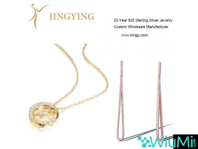 Sterling silver gold plated ring necklaces bracelets earrings jewelry custom - 2/2
