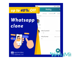Stunning discount 40% sale for the ready-to-use Whatsapp clone script