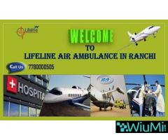 Lifeline Air Ambulance in Ranchi- Avail Fastest Air Ambulance from Ranchi