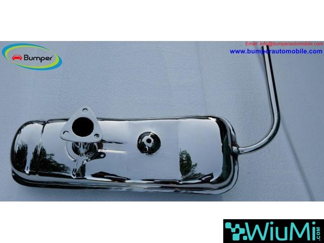 Exhaust for Vespa 400 (1957-1961) by stainless steel - 2/5