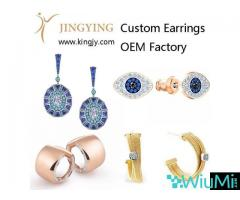 Custom earrings gold plated silver jewelry supplier and wholesaler - Image 1/2