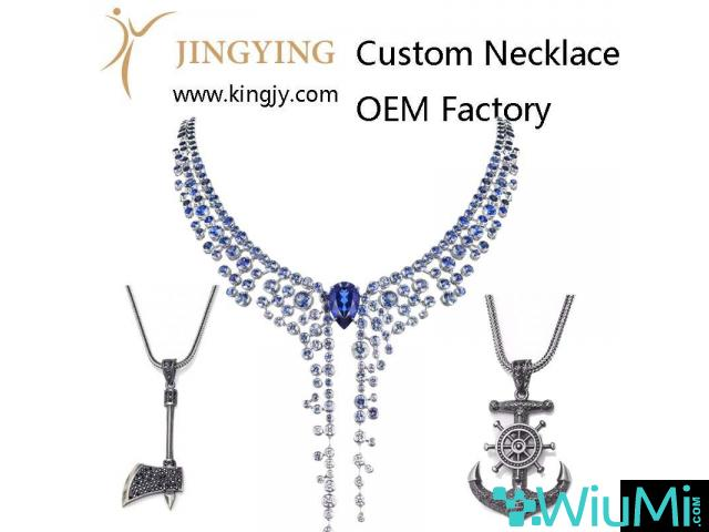 Custom necklace gold plated silver jewelry supplier and wholesaler - 1/1
