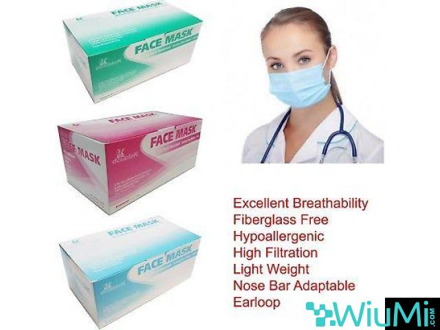 Crosstex Surgical Molded Pink Face Mask   Dukal N95 Particulate Respirators, Folded - 3/3