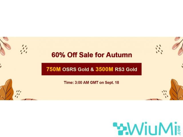 RSorder Autumn 2020 Cheap OSRS Gold with Amazing 60% Off Waiting for U on Sept 18 - 1/1