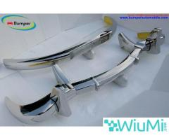 Mercedes Benz 300SL gullwing coupe bumper (1954-1957) Stainless steel Polished SUS 304 - Image 1/5