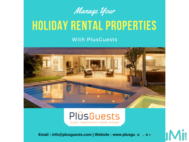 Manage your holiday Rental properties with PlusGuests - 1/1