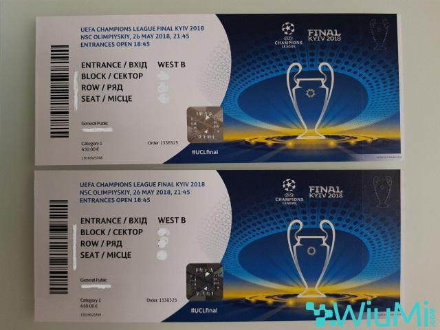 Champions League Final 2018 Football Tickets | Real Madrid vs Liverpool - 1/2