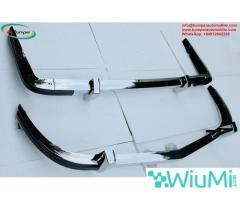 Stainless steel bumpers for Datsun 240Z 260Z 280Z from 1969 to 1978  with overriders - Image 2/5