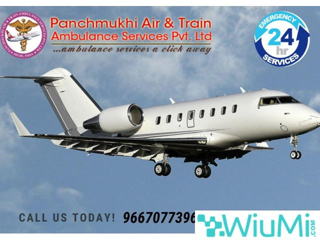 Remarkable ICU Air Ambulance Service in Bhavnagar by Panchmukhi with Modern Amenities - 1/1