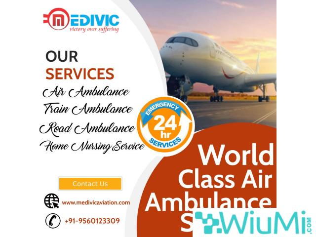 Take Smart ICU Air Ambulance Services in Mumbai at Low-Cost by Medivic - 1/1