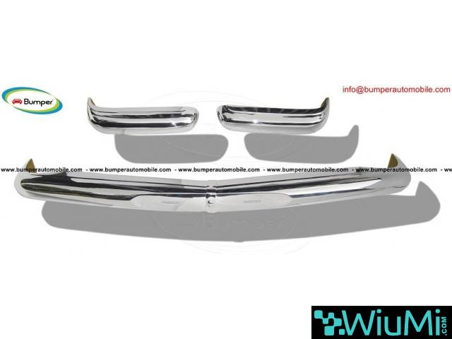 Mercedes Pagode W113 bumpers (1963 -1971) stainless steel - 1/3