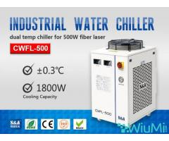 S&A water chiller machine CWFL-500 for cooling 500W fiber laser cutting machine