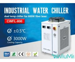 S&A small water chiller CWFL-800 for cooling 800W fiber laser engraver - Image 1/2