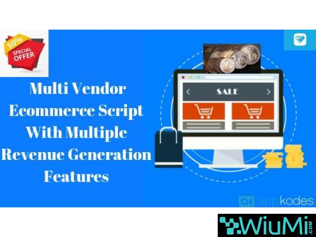 50% Off On Multi Vendor Ecommerce Script With Multiple Revenue Generation Features - 1/1
