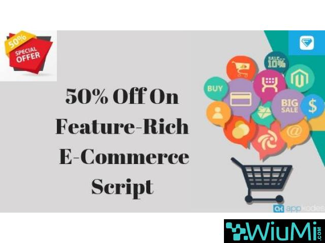50% Off On Feature-Rich E-Commerce Script - 1/1