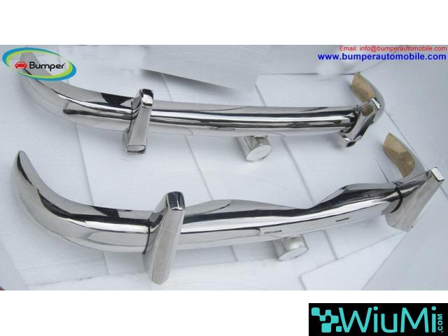 Mercedes Ponton 220S bumper ( 1954-1960 ) stainless steel - 2/3