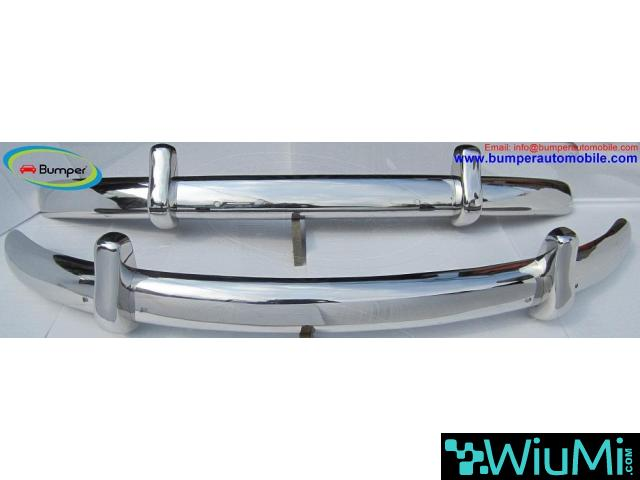VW Beetle Euro style bumper (1955-1972) stainless steel - 1/4