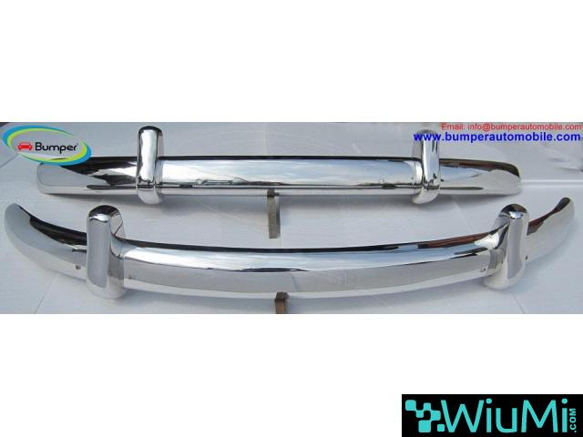 VW Beetle Euro style bumper (1955-1972) stainless steel - 3/4
