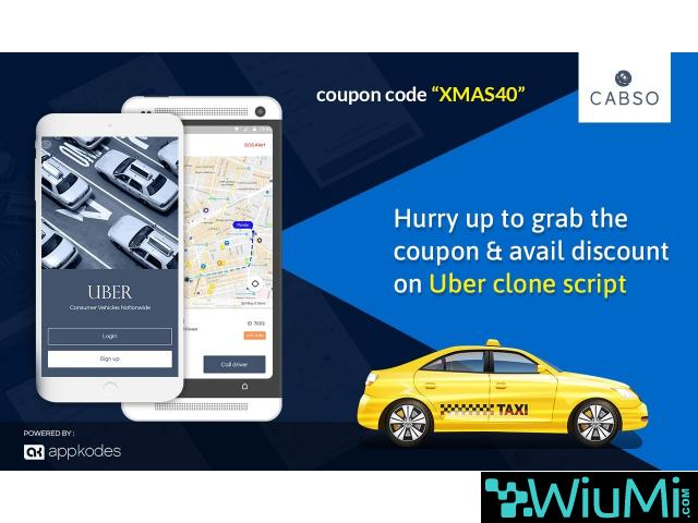 Hurry Up To Grab The Coupon And Avail 40% Discount On Uber Clone Script - 1/1